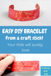 DIY bracelet from a craft stick