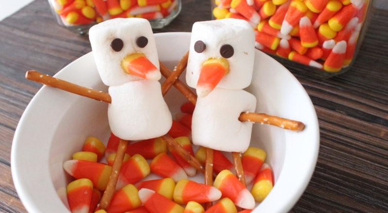 Halloween Snowman snacks