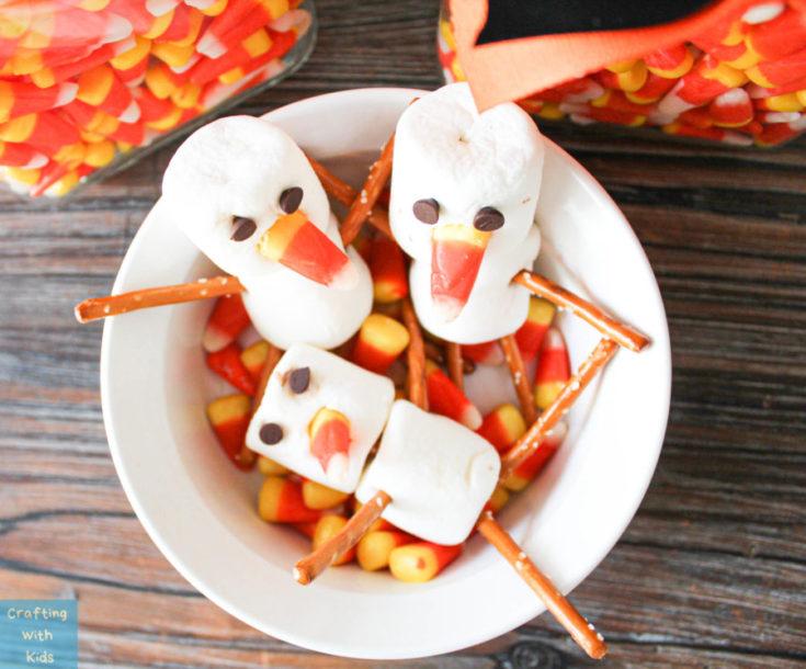 Halloween Snowman snack