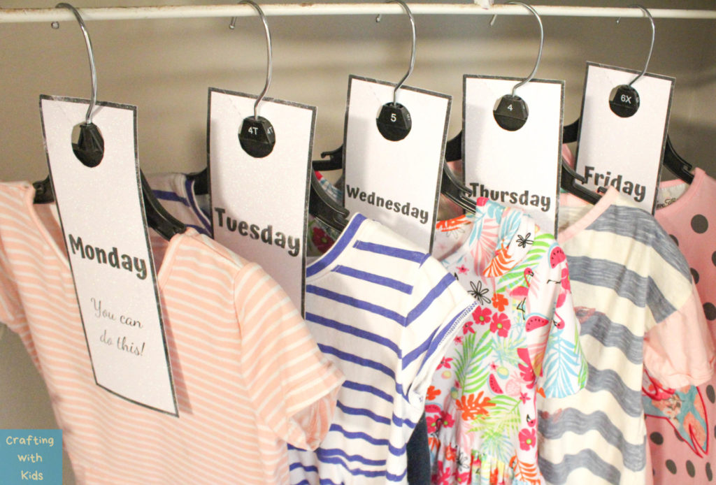 Days of the Week Clothing Tags