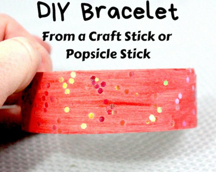DIY Bracelet From a Craft Stick