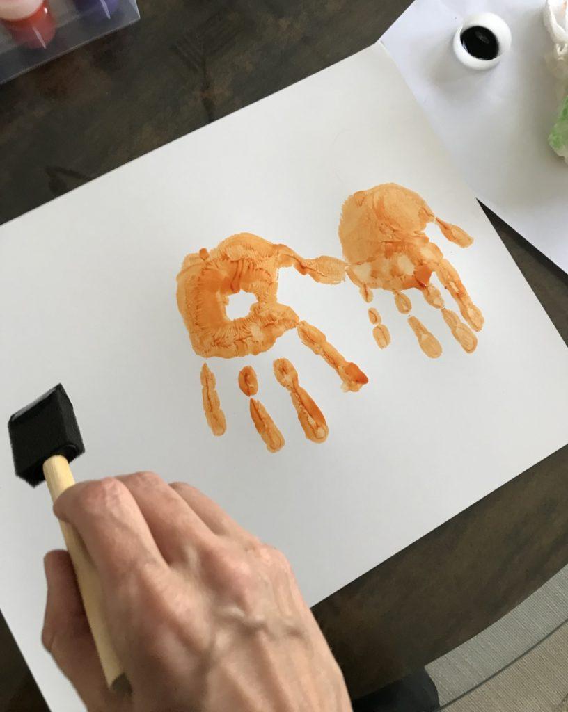 Boo handprint sign