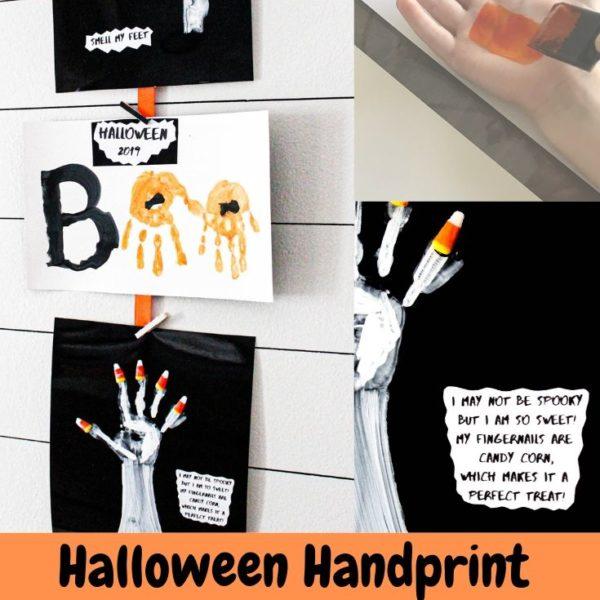 Halloween handprint craft
