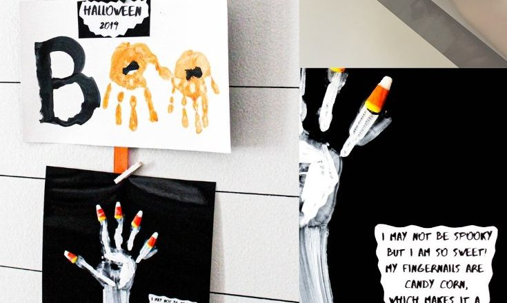 Halloween handprint craft