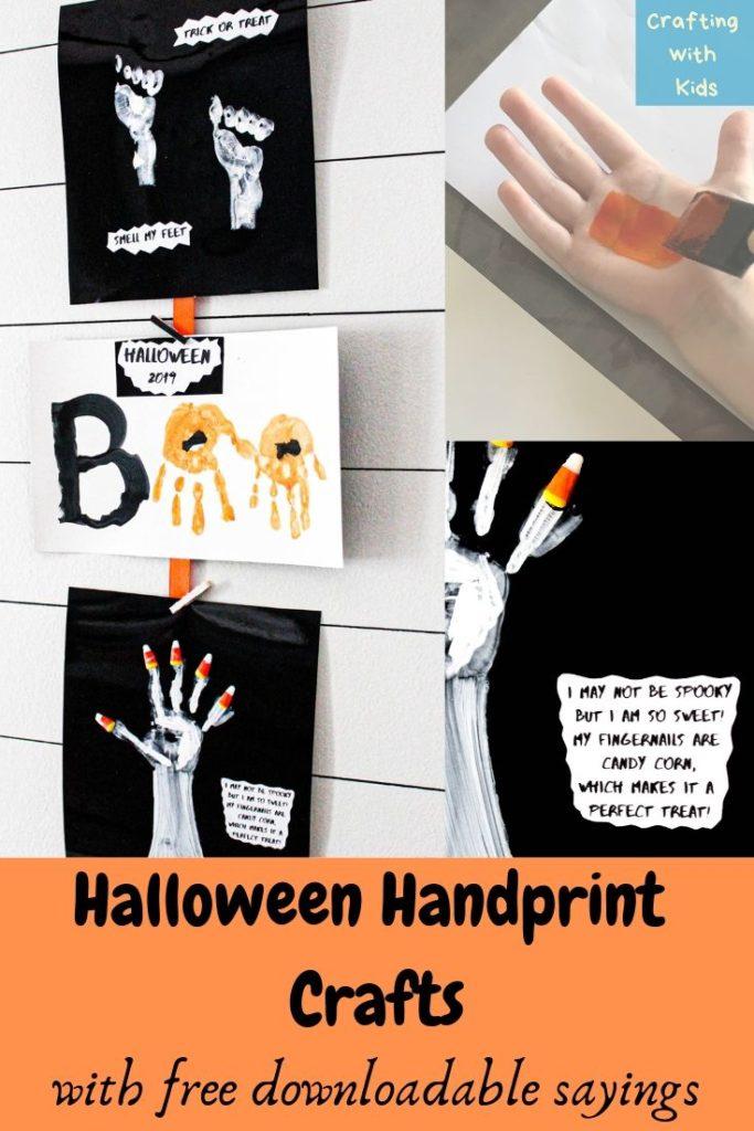 halloween handprint crafts