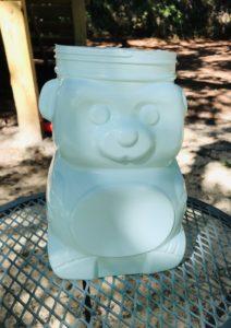 spray painted animal cracker bear jug
