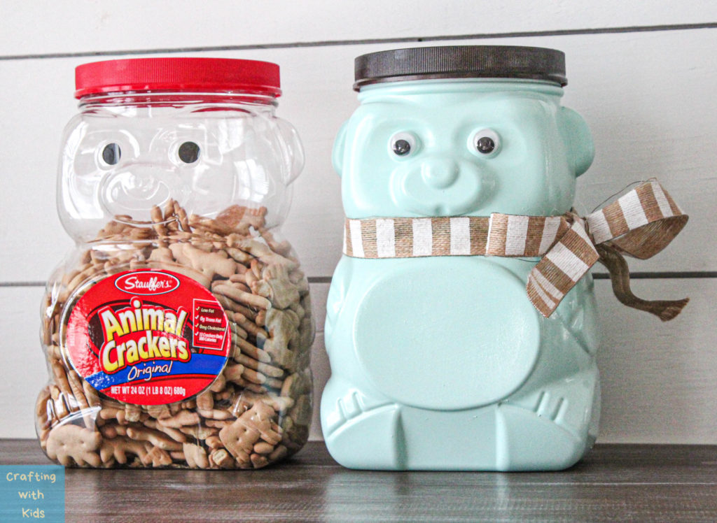 Animal Cracker Bear Jug Repurposed