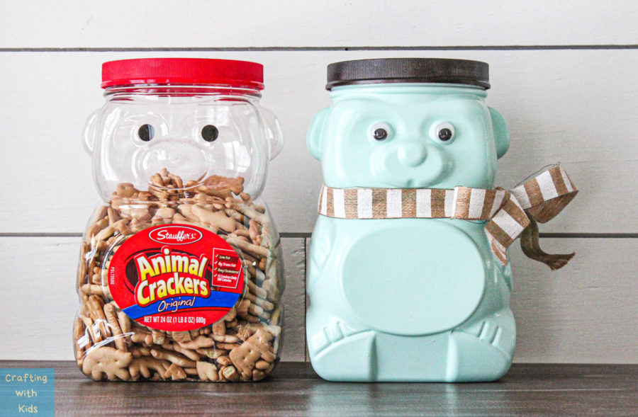 animal cracker bear jug reused