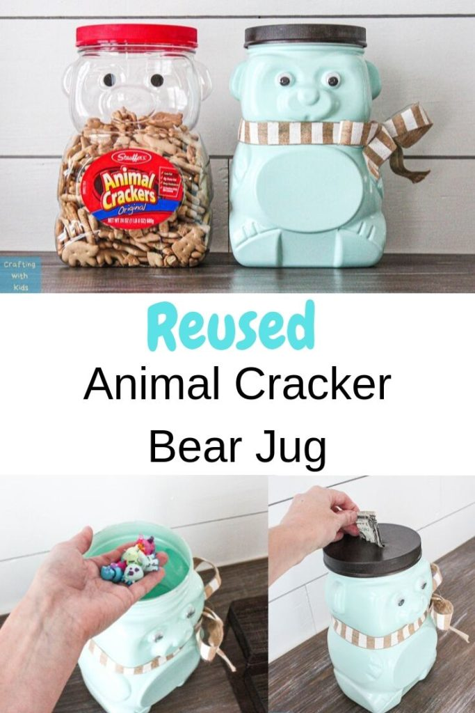 Animal Cracker Bear Jug Reused