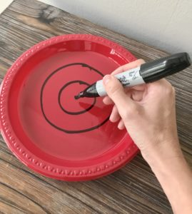 DIY NERF GUN TARGETS OUT OF DISPOSABLE PLATES