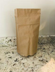 paper bag nerf target