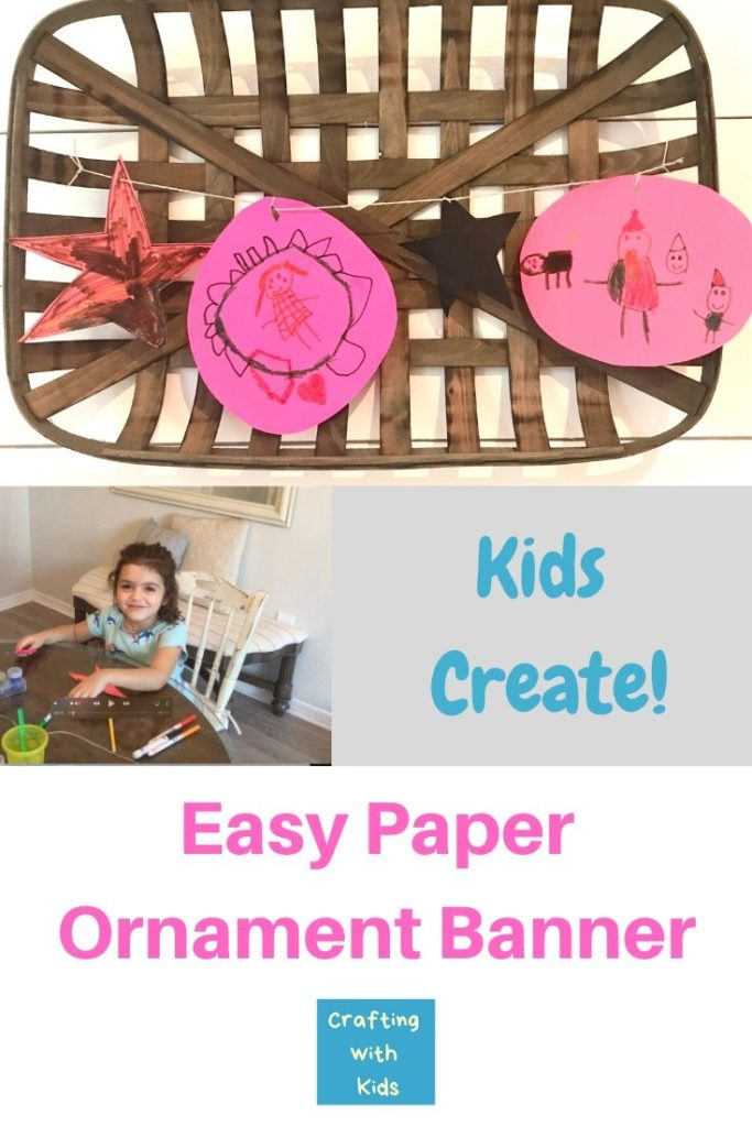 Kid Created Paper Ornament Banner