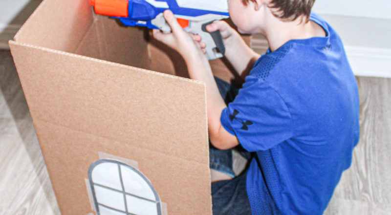 Nerf Gun Games with Nerf Targets from Household Items