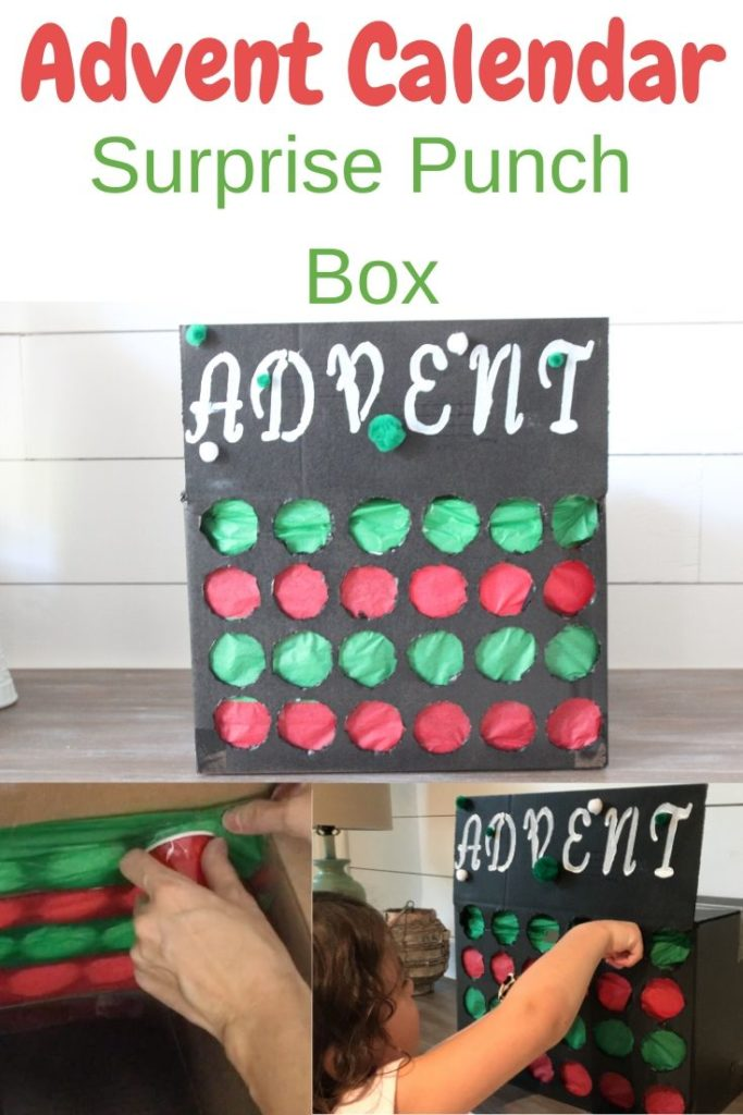Advent Calendar surprise Punch box