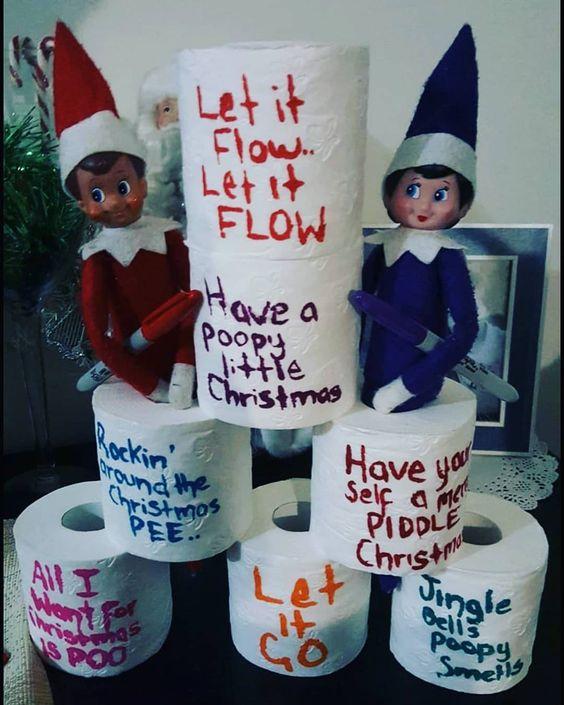elf on the shelf funny ideas
