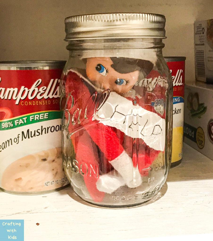 elf on the shelf in jar