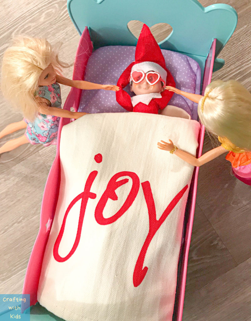 Elf on the shelf with barbie