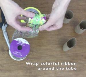 decorating toilet paper roll bracelet