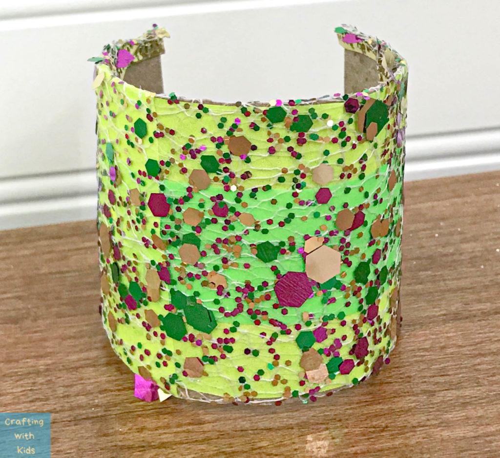 DIY MARDI GRAS CUFF BRACELET FOR KIDS