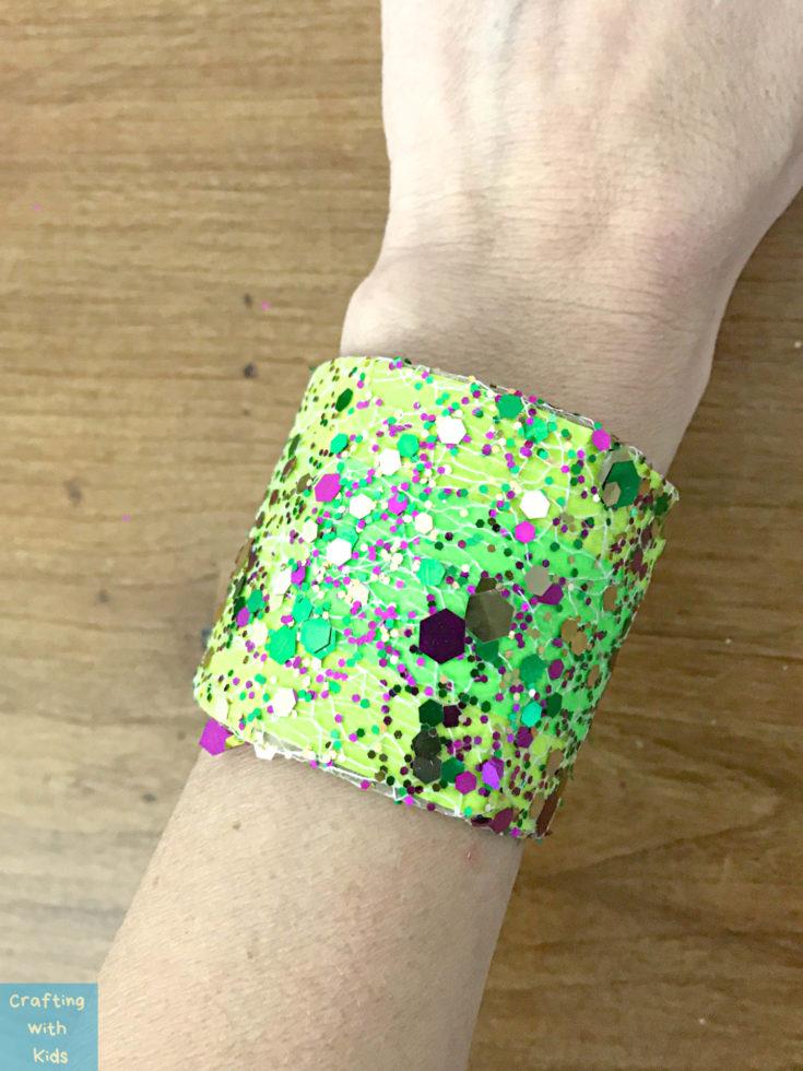 DIY Mardi Gras cuff bracelet