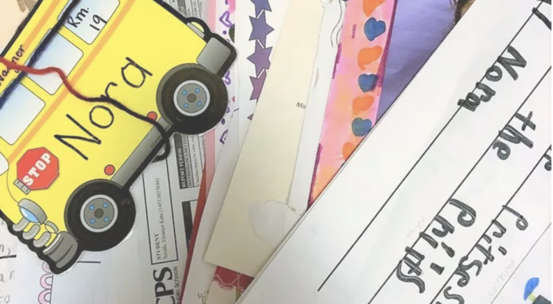 how to organize kids artwork and school papers