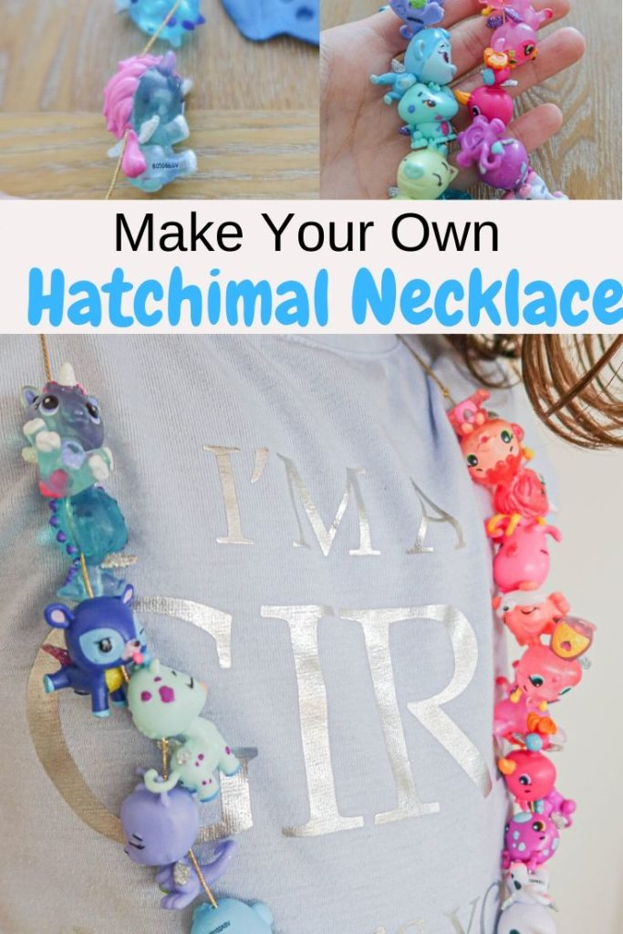 make your own collEGGtible Hatchimal necklace