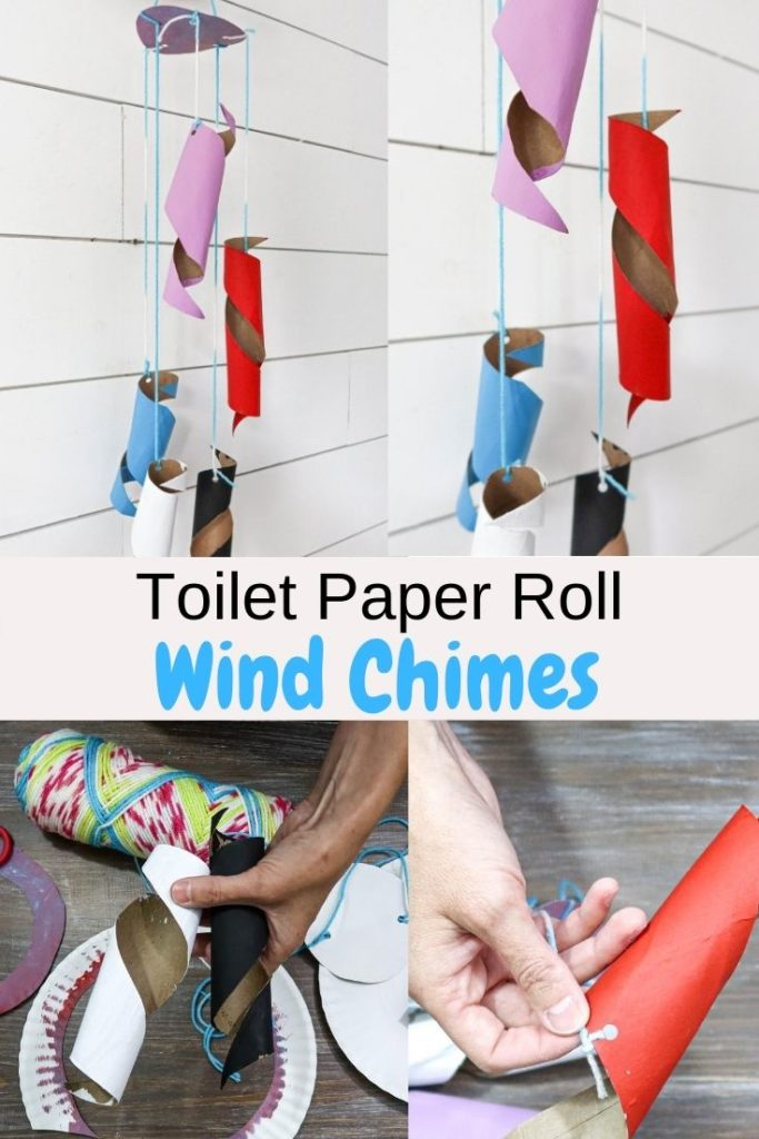 toilet paper tube wind chimes