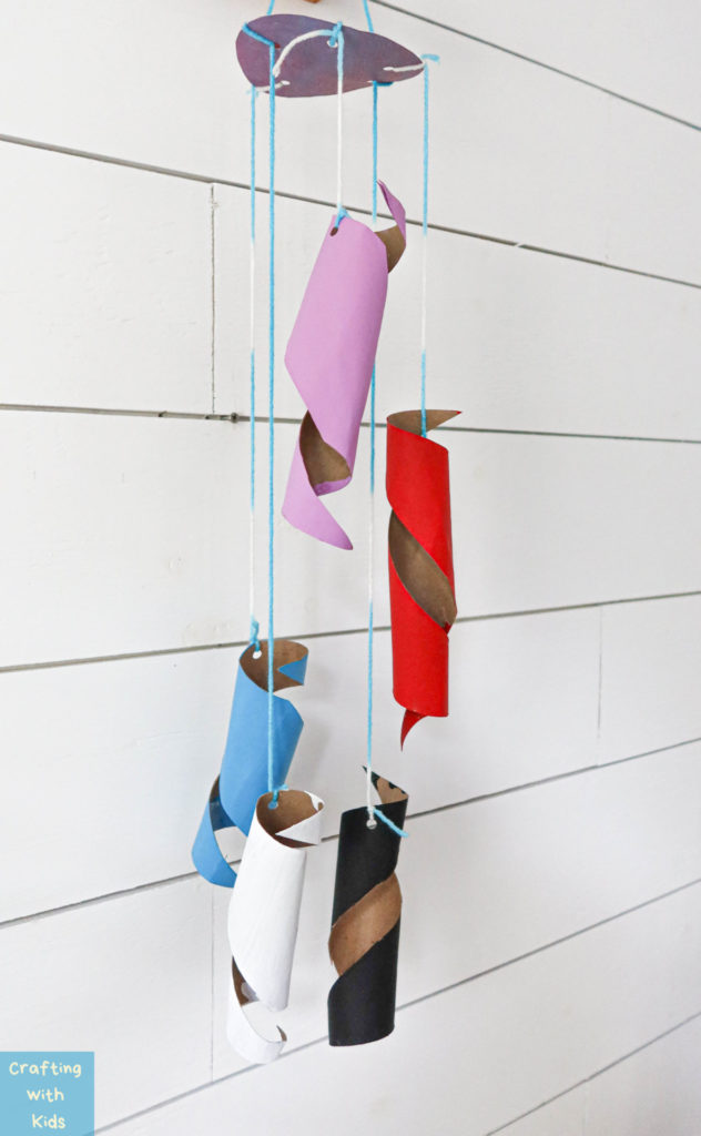 toilet paper tube wind chime