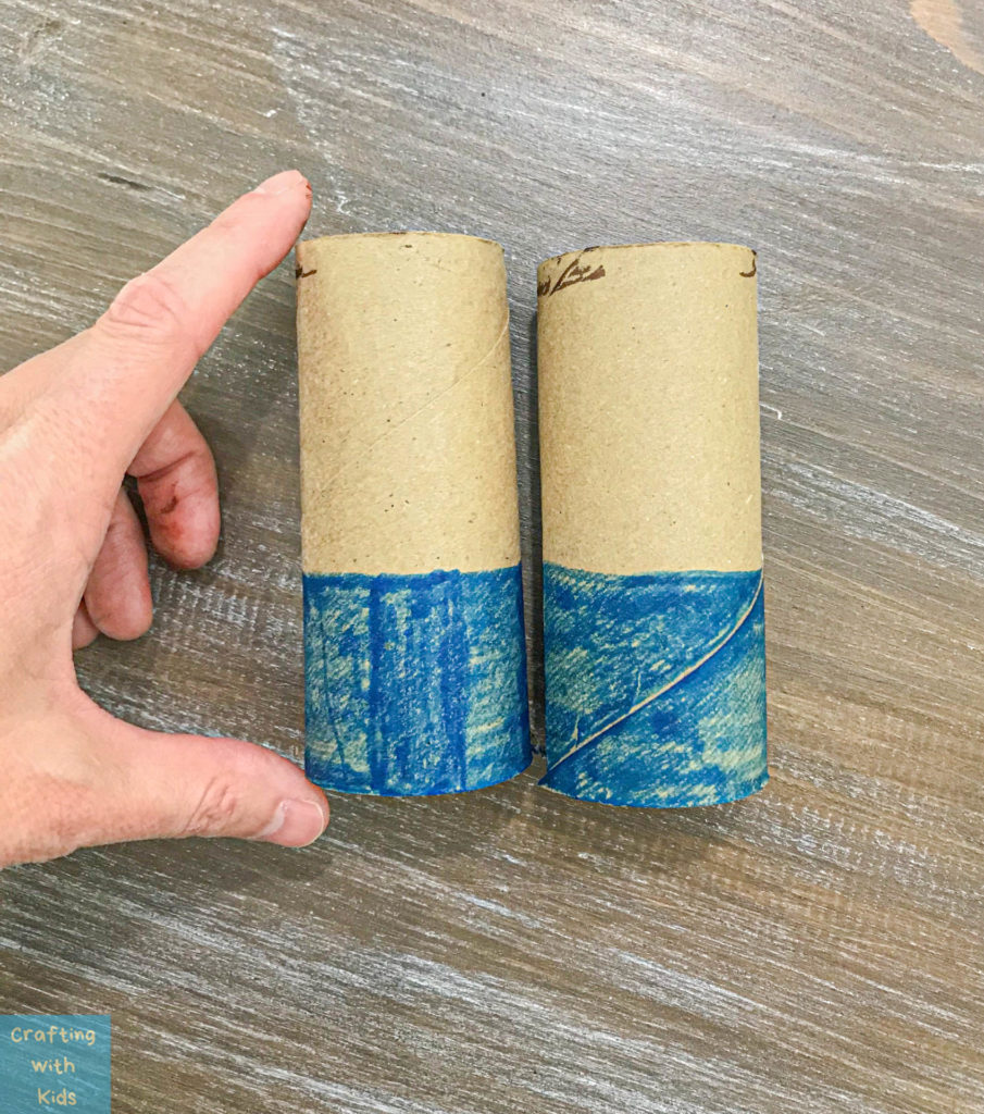 colored toilet paper tubes
