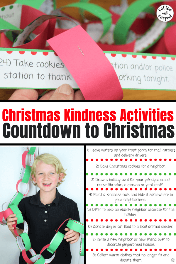 Christmas Kindness activities countdown to Christmas
