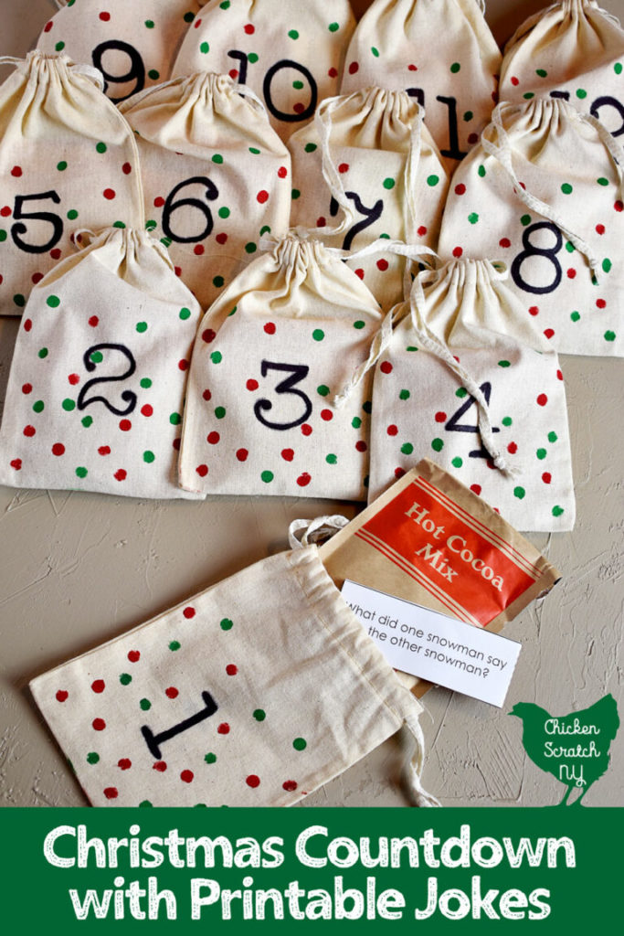 DIY Christmas countdown with jokes