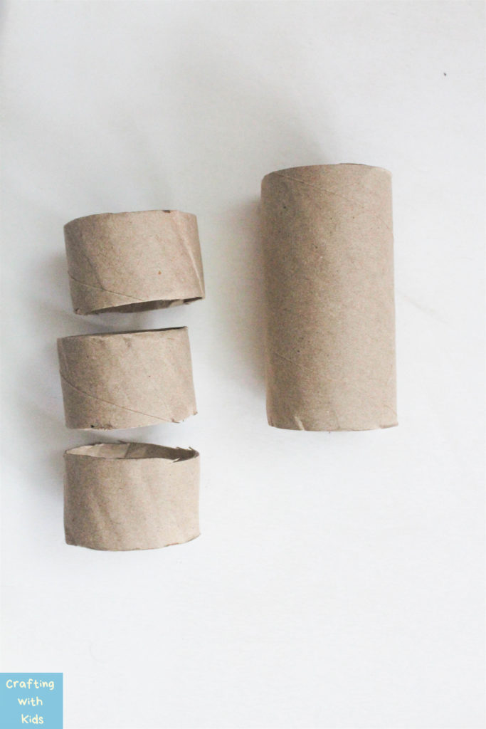 toilet paper rolls cut for advent calendar