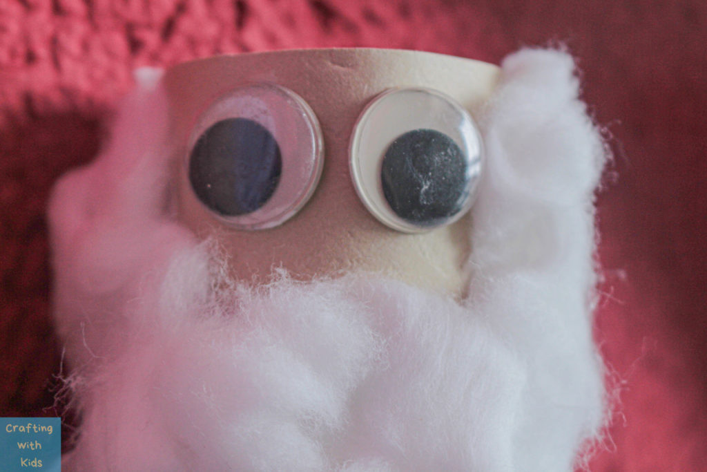 toilet paper roll Santa Claus googly eyes