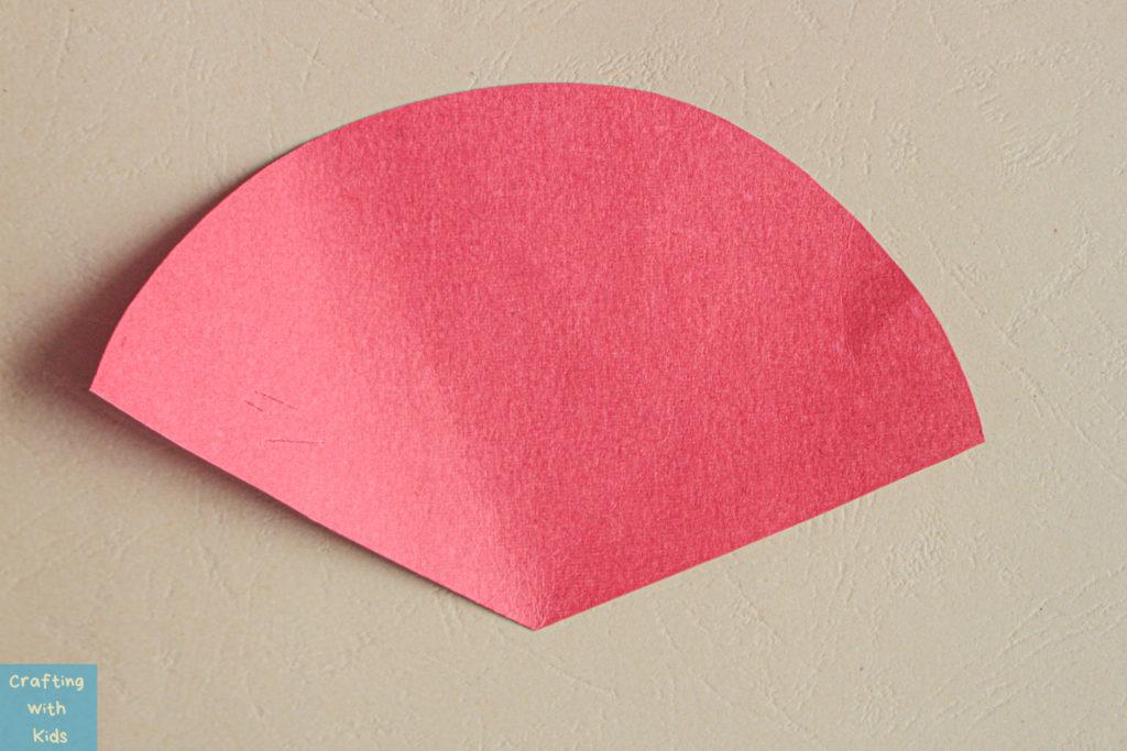 red paper in a fan shape