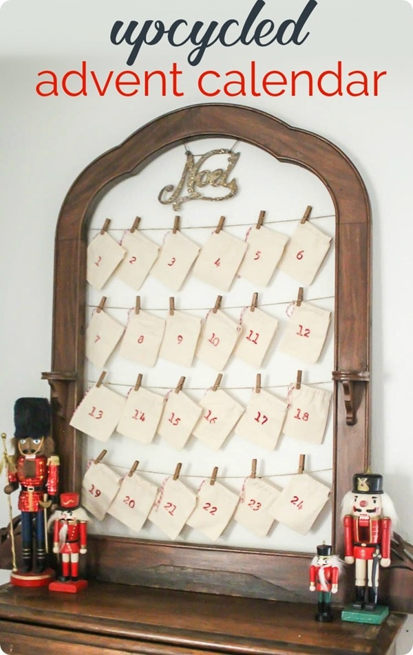 Reusable advent calendar from a frame