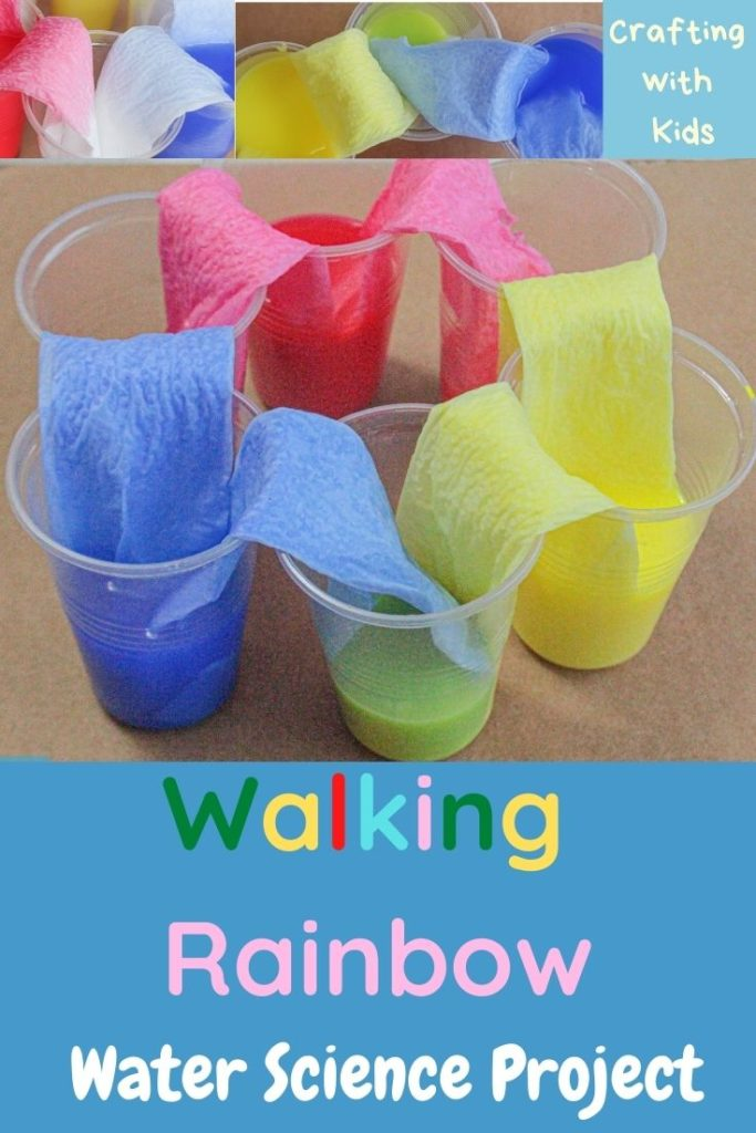 walking rainbow water experiment