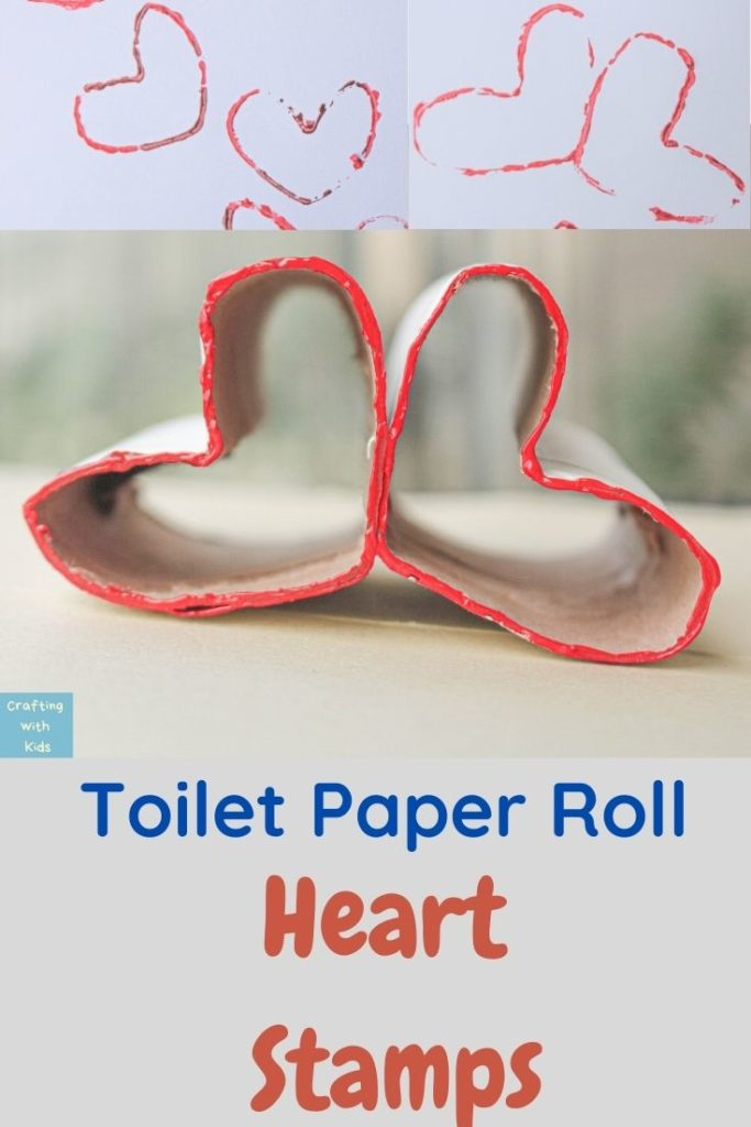 DIY toilet paper roll heart stamps