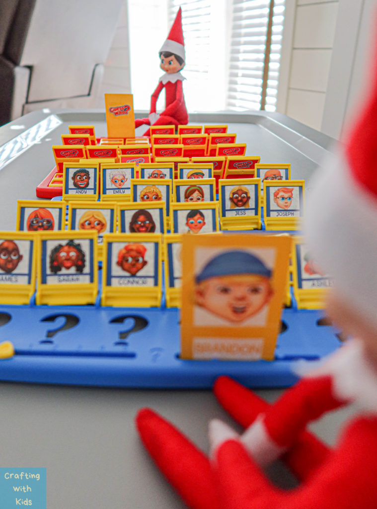 Elf on the Shelf Ideas for two elf's; playing Guess Who