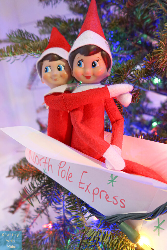 goodbye elf on the shelf plane