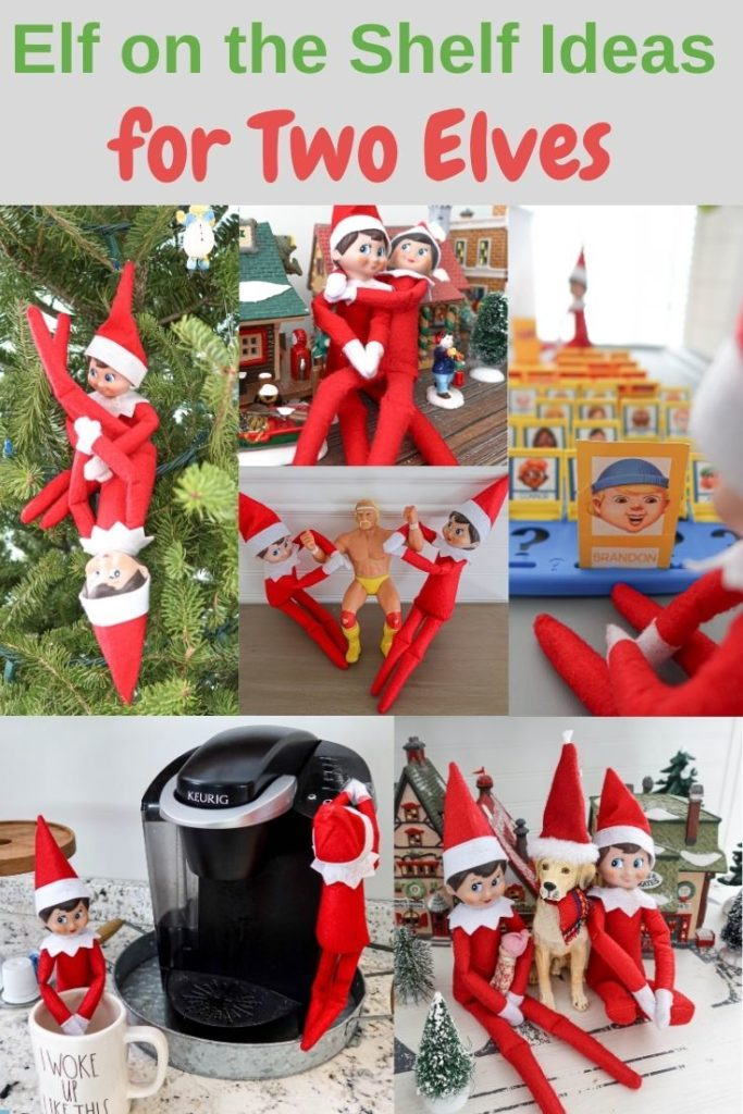 Elf on the Shelf ideas two elves