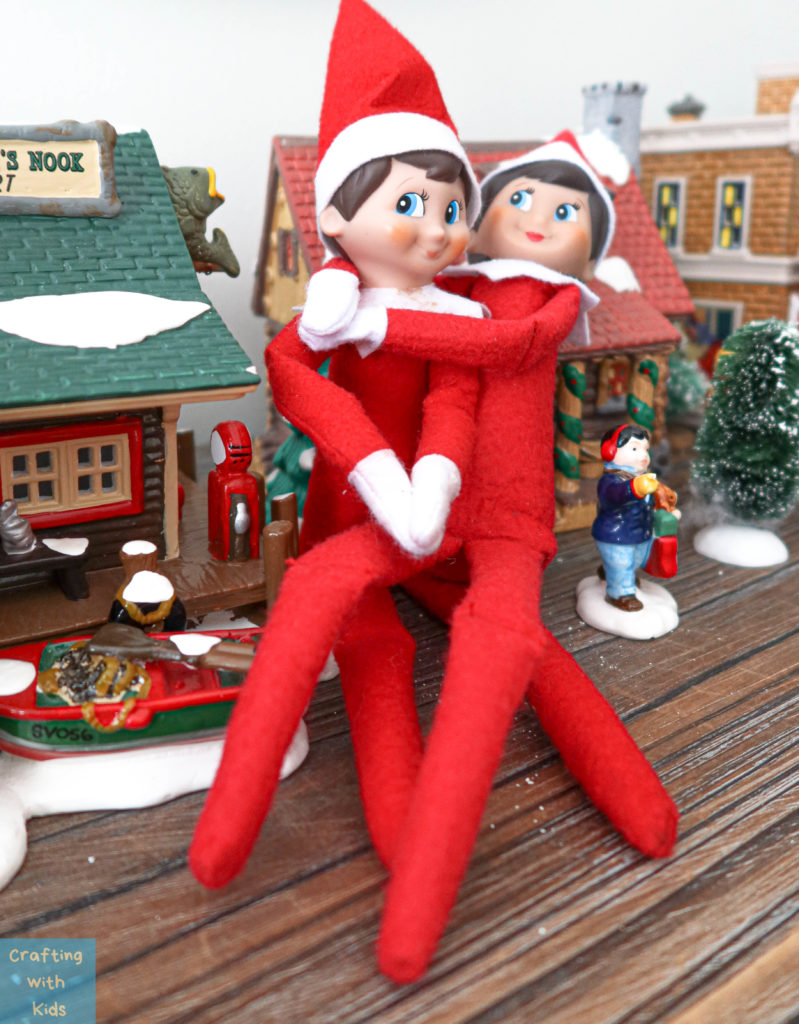 elf on the shelf mom and dad