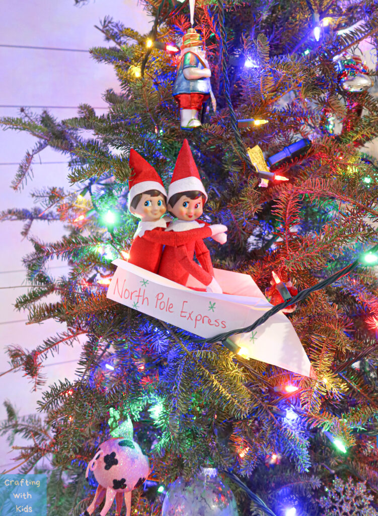 Elf on the shelf goodbye plane; north pole express