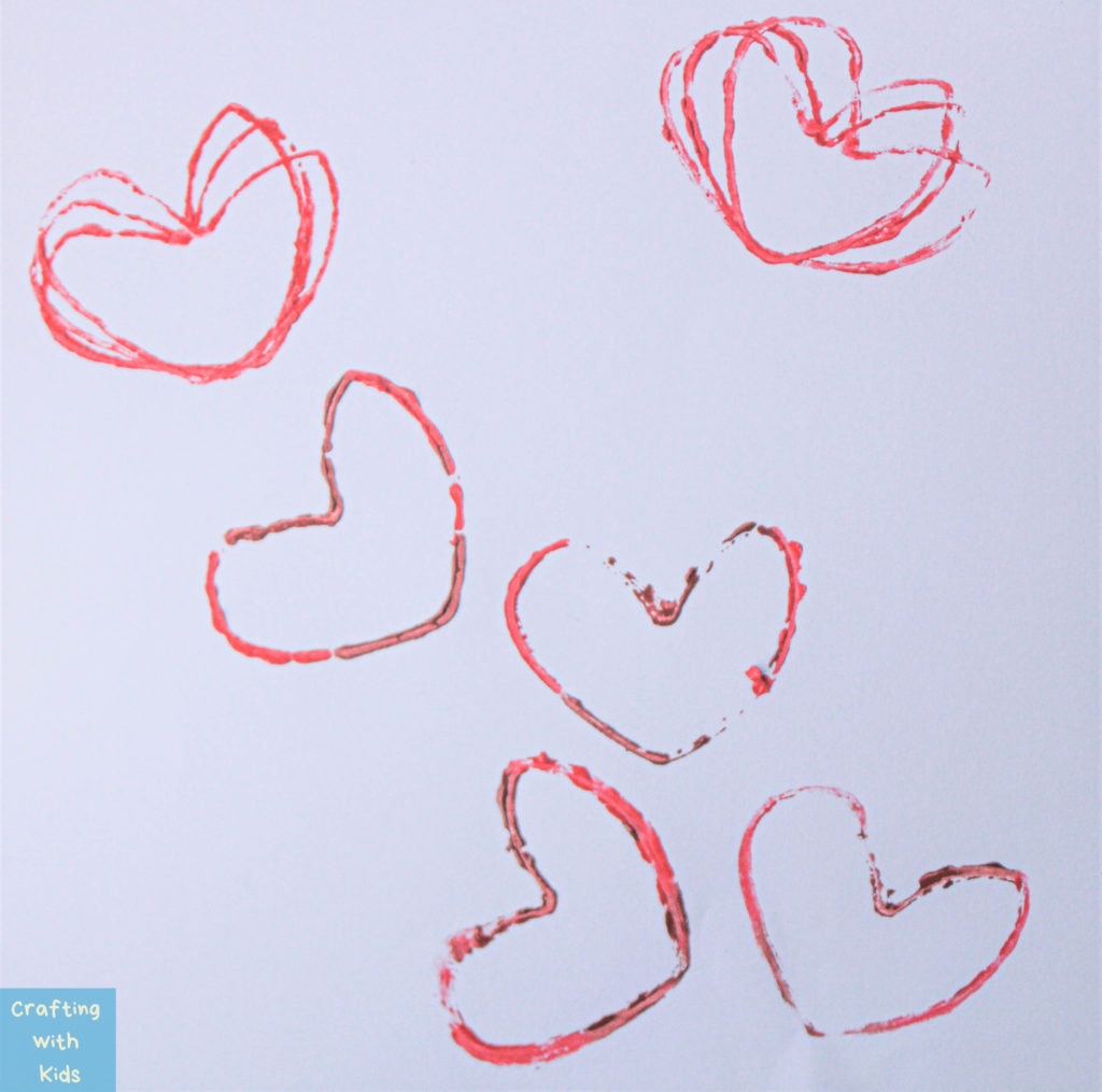 Heart patterns from heart shaped stamp