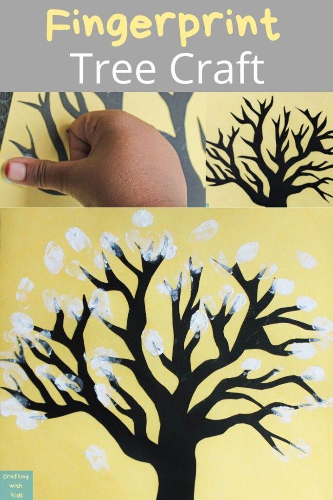 fingerprint tree craft for toddlers