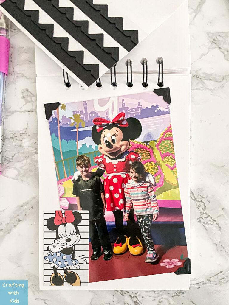 Decorating Disney Memory book with photos