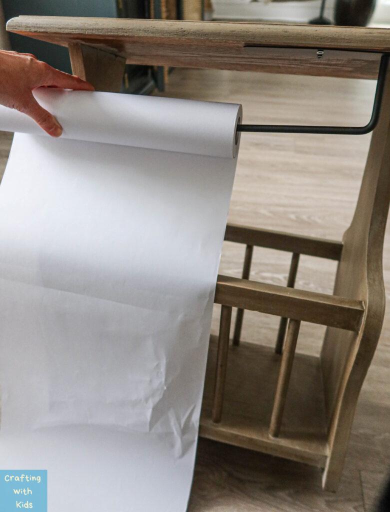 DIY paper roll holder