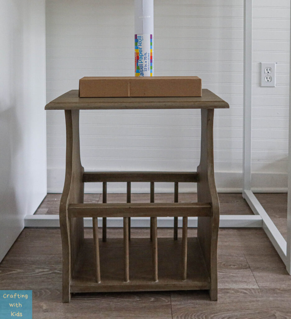 kids drawing desk with paper roll holder