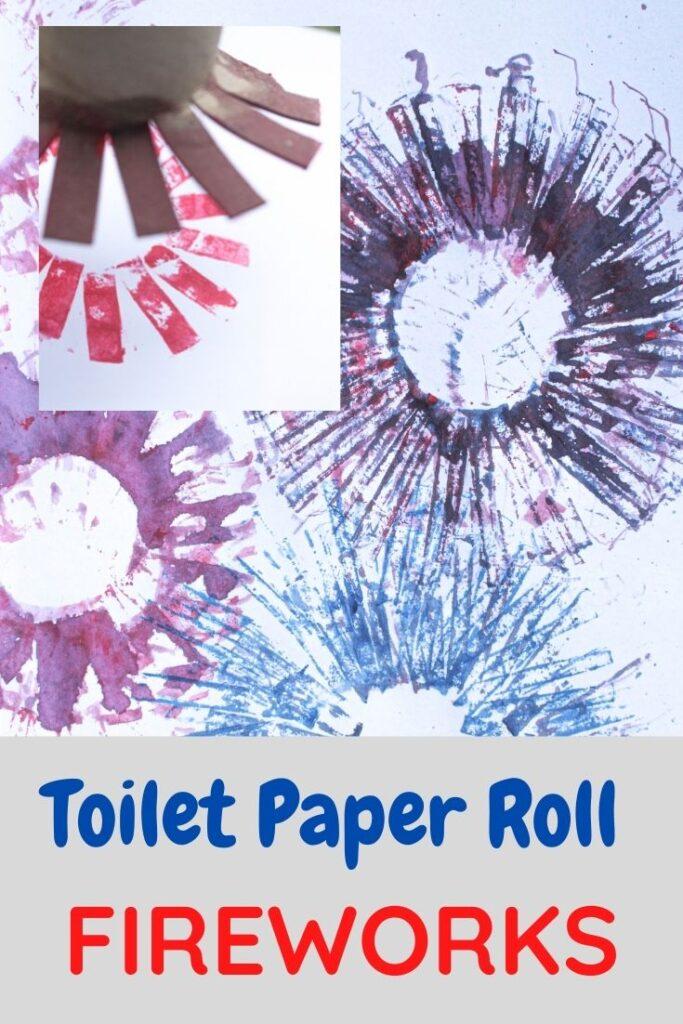Toilet paper roll fireworks kids craft
