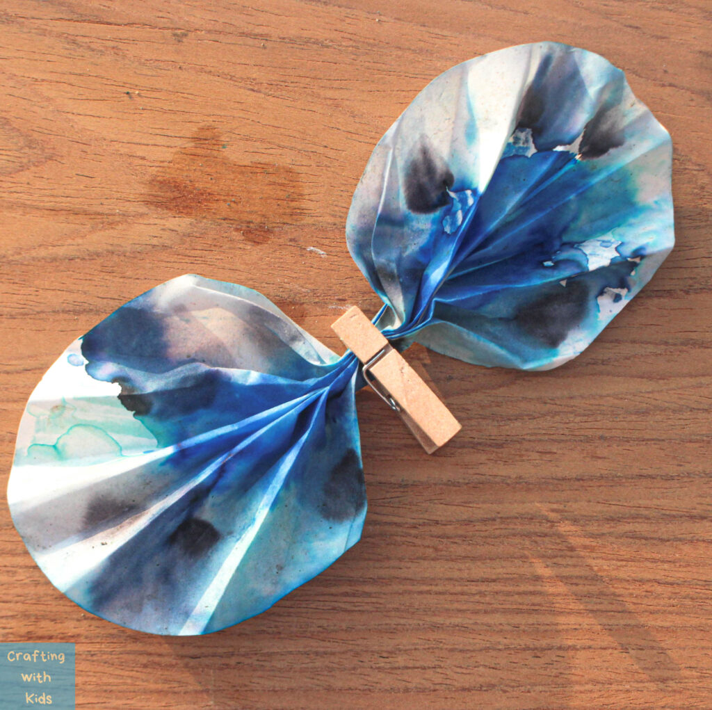 making coffee filter butterfly