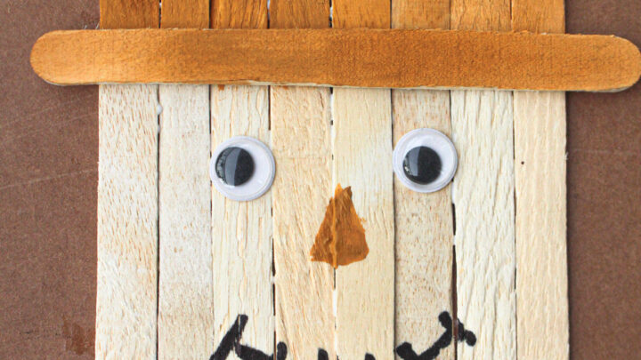 popsicle stick scarecrow fall craft